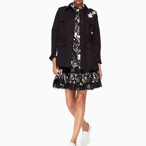 ♠️ NWT Kate Spade Floral Army Jacket - Size M